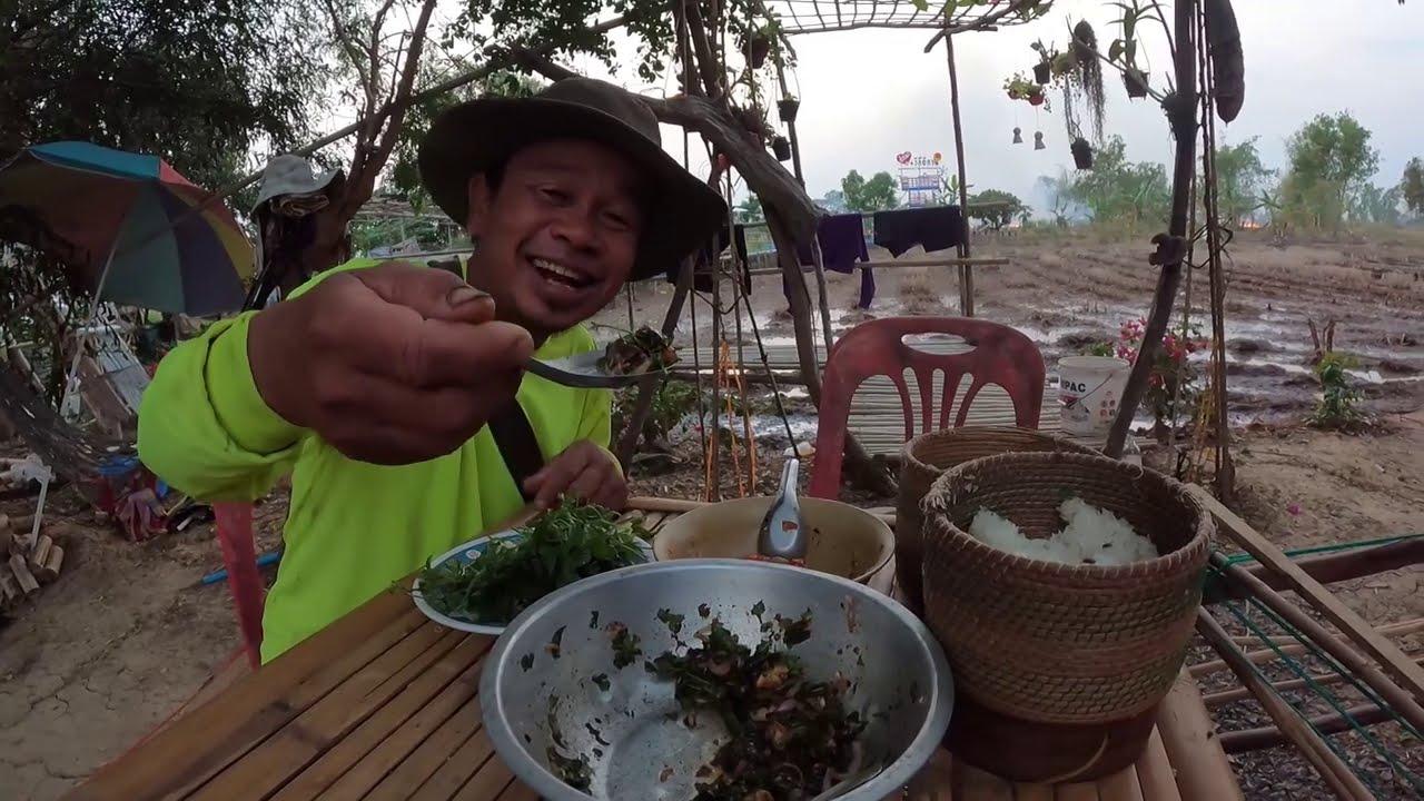 ก้อยหอยเชอรี่ สุดยอดเมนูเด็ด ตอนแลงๆ