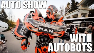 How to make  auto motor car show with autobots.  Exhibition presentation MAN  Lviv 2018