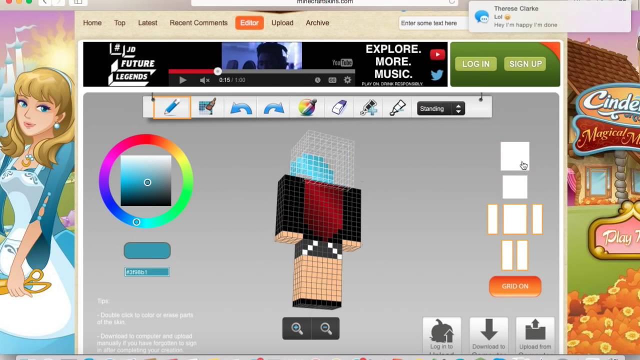 Skin Maker For Minecraft App Minecraft Skin Youtube