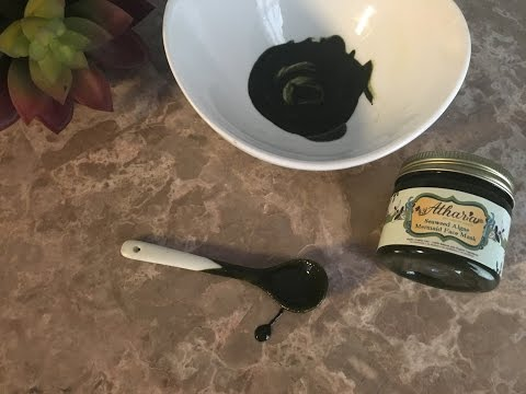 Seaweed and Algae Mermaid Face Mask