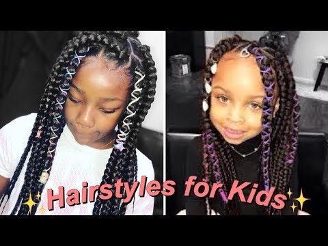 HAIRSTYLES FOR LITTLE GIRLS |BOX BRAIDS (rubber band method)