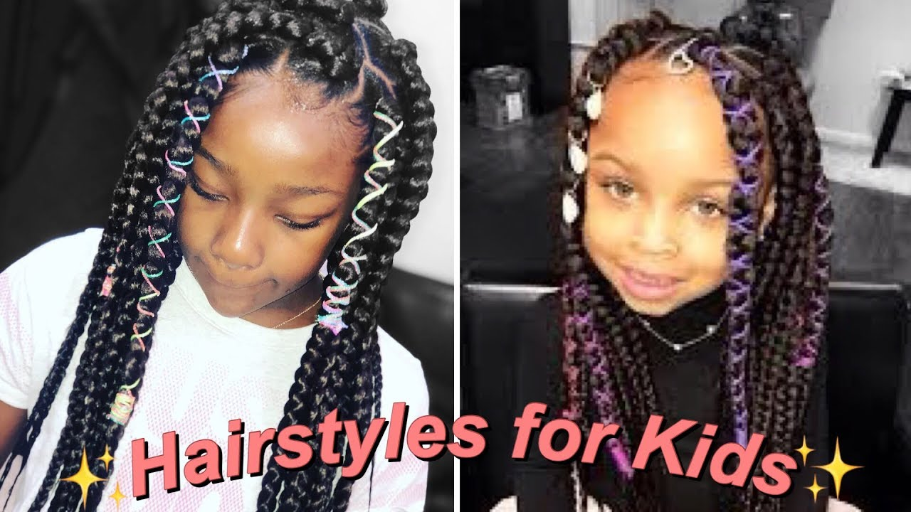 Hairstyles For Little Girls Box Braids Rubber Band Method