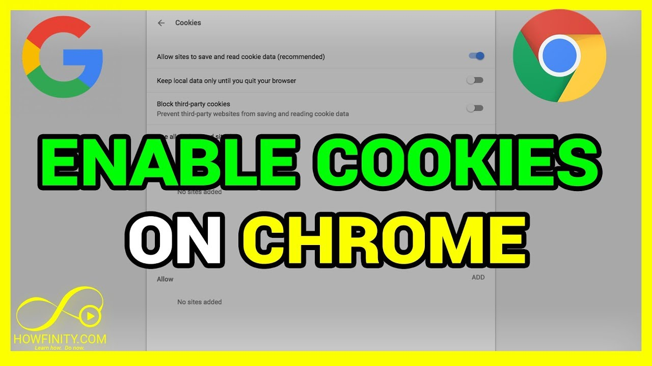 How To Enable Cookies On Chrome - YouTube