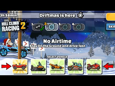 Hill Climb Racing 2 - 33639 Points In DRIFTMAS IS HERE Team Event