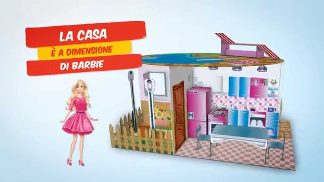 Lisciani tv costruisci e decora la casa di barbie youtube for Casa di barbie youtube