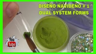 DISEÑO NAVIDEÑO#1/DUAL SYSTEM FORMS/CHRISTMAS DESIGN/PURE GREEN