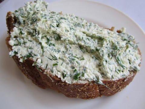 Мягкий домашний сыр с укропом - кулинарный рецепт