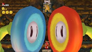 New Super Mario Bros. Wii - Final Boss Evil Fire and Evil Ice Flower & Ending