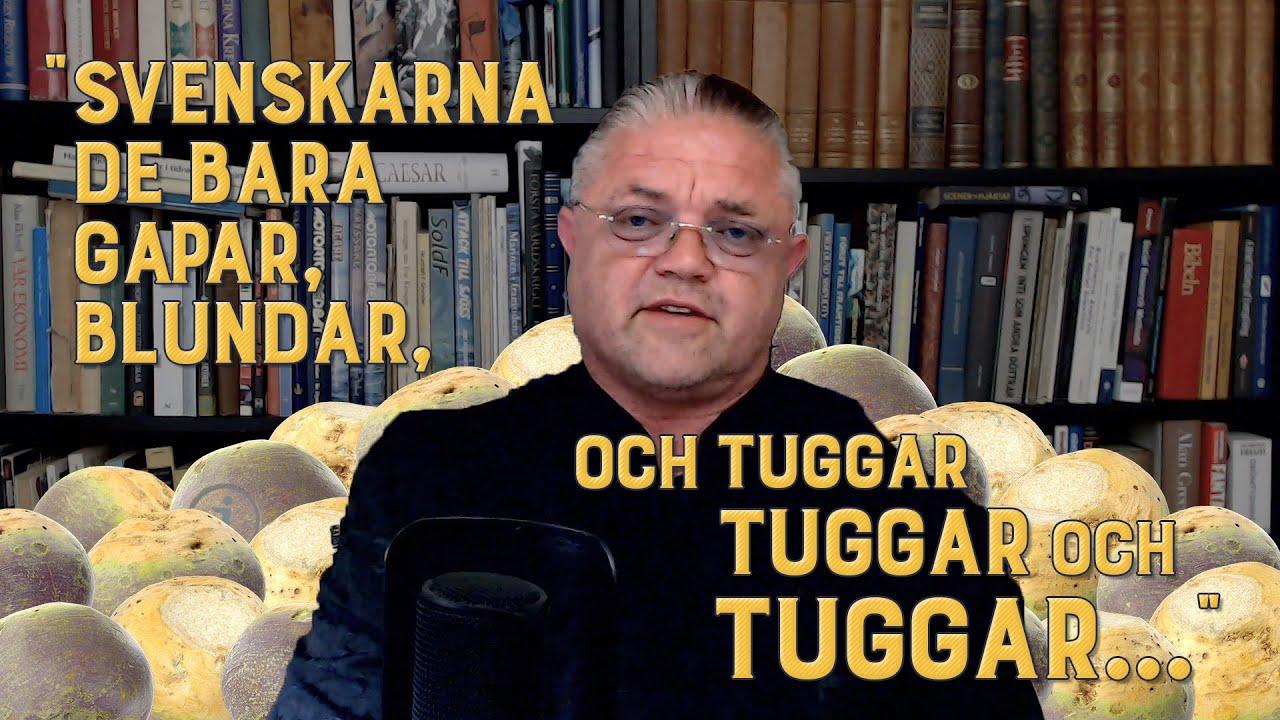 """Carl Norberg 2020-07-31 - """"Gapa, blunda och tugga allt vi lägger i era munnar."""""""