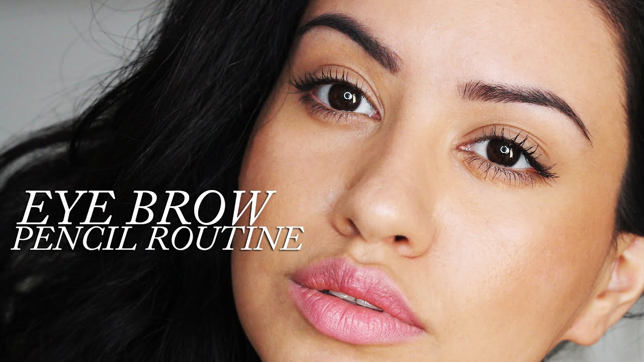 Eyebrow Routine Ft Estee Lauder Brow Now Defining Pencil Youtube