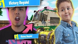 CRINGY 10 YEAR OLD KIDS BREAKING ICE CREAM TRUCK! *EPIC* FORTNITE BATTLE ROYALE!