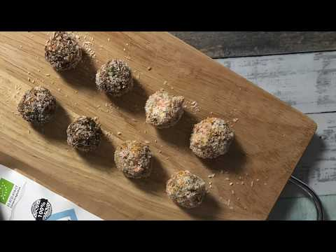 Carrot Energy Balls with superfood
