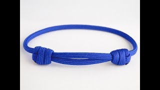 """How to Make a """"Chinese"""" Sliding Knot Paracord Friendship Bracelet"""