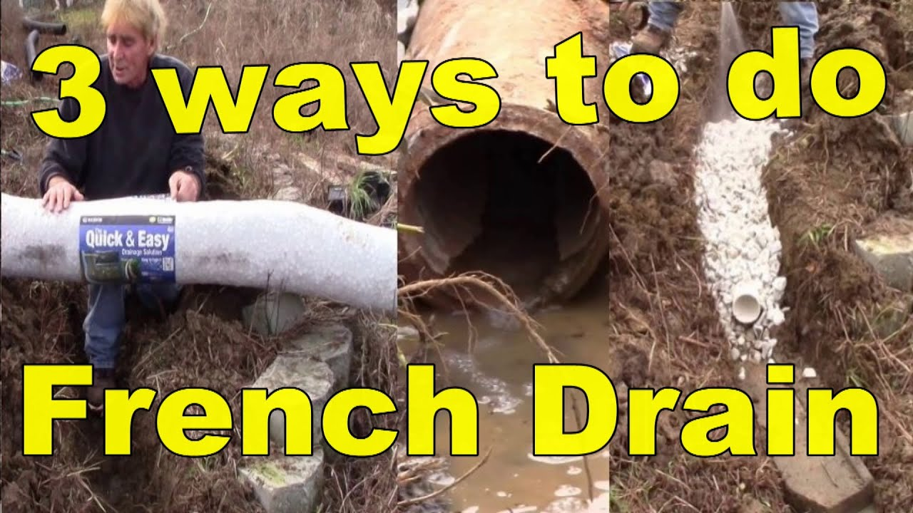 French Drain, How it works with 3 different materiels ...