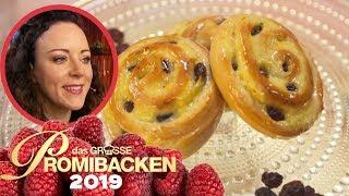 45 cm Rosinenschnecke: Leckeres Hefegebäck 1/2 | Aufgabe | Das große Promibacken 2019 | SAT.1 TV