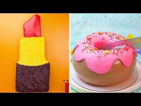 10+-beautiful-colorful-cake-decorating-ideas-🌈🍭🍰-so-yummy-cake-decorating-tutorials