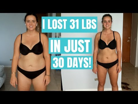 30 day water diet results