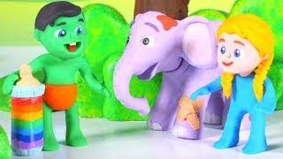Baby Elephant Drinks A Rainbow Baby Bottle ❤ Cartoons For Kids