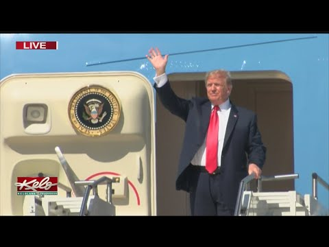 President Trump Arrives In Sioux Falls