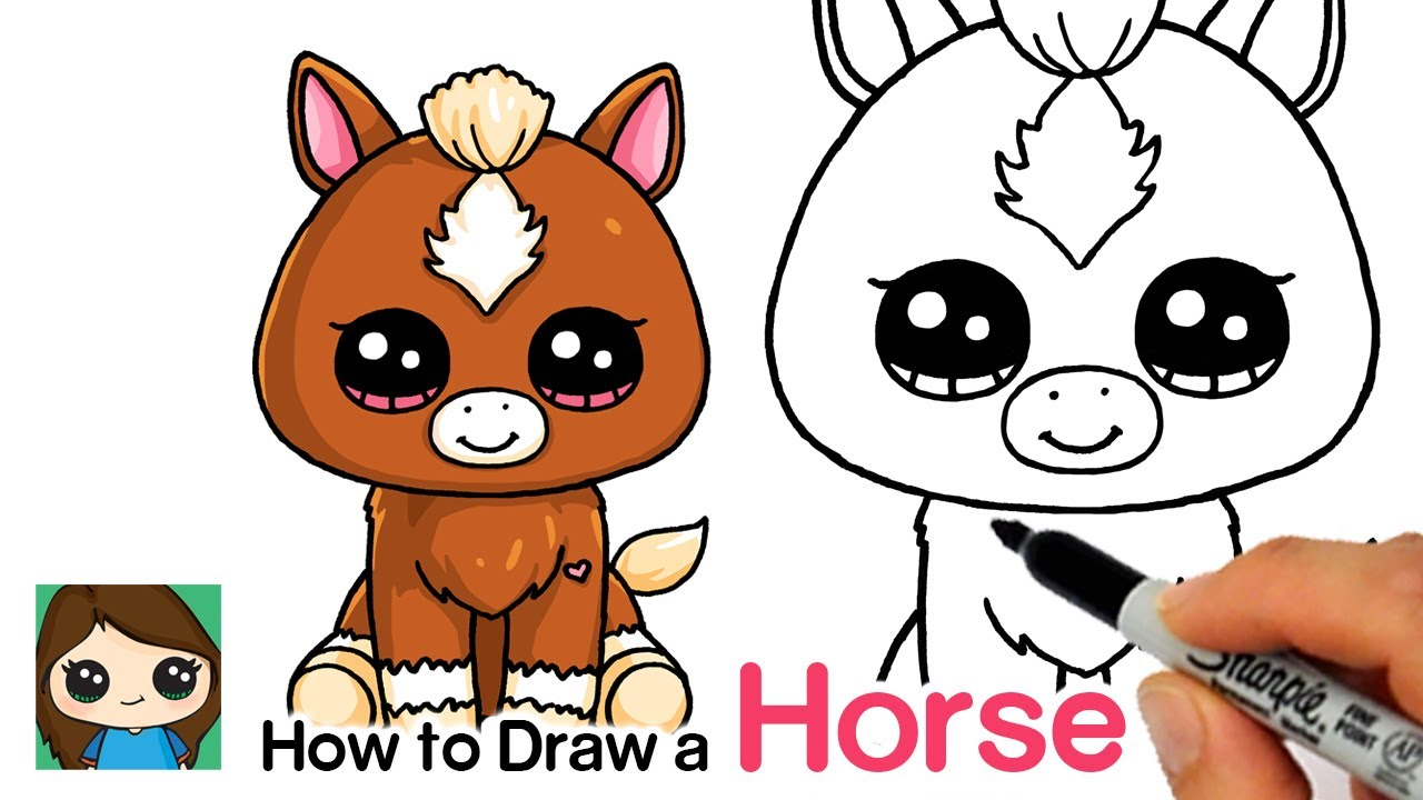 Onwijs How to Draw a Baby Horse Easy | Beanie Boos - YouTube RY-11
