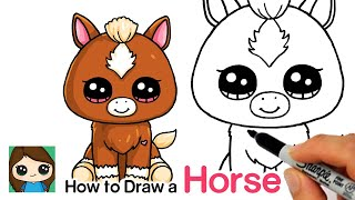 How to Draw a Baby Horse Easy | Beanie Boos