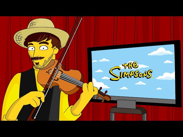 The Simpsons Theme for solo violin - Duos pour un Violon - Raphaël Maillet