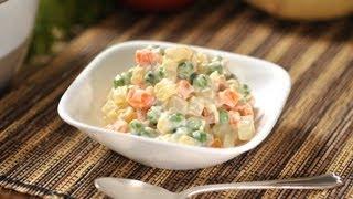 Cómo preparar ensalada rusa / comida sana/ comida nutritiva