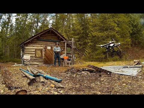 Trip to old prospectors cabin, gold panning & Aerial drone test.