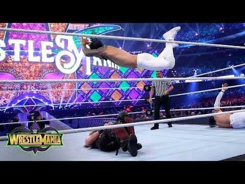 The Usos launch a double-team attack on Harper: WrestleMania 34 (WWE Network Exclusive)
