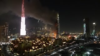 Address Hotel Downtown Dubai Fire