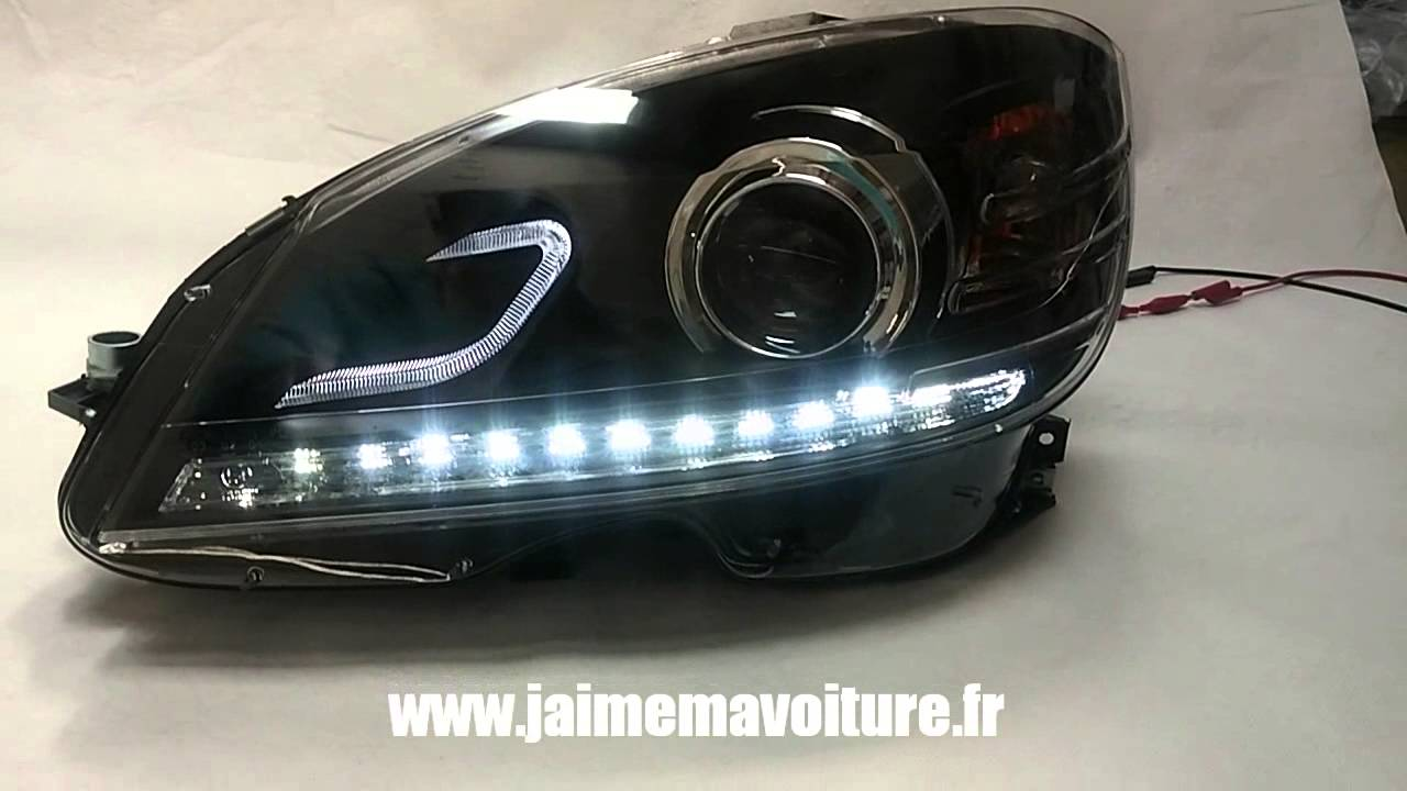 Phares Avants Led Pour Mercedes Classe C W204 Youtube