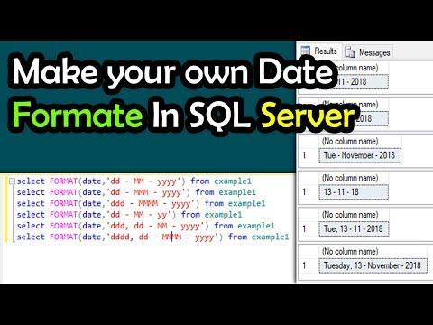 How To Change Format Of Date In SQL SERVER Query | By SYED I.T SOLUTIONS © | Urdu
