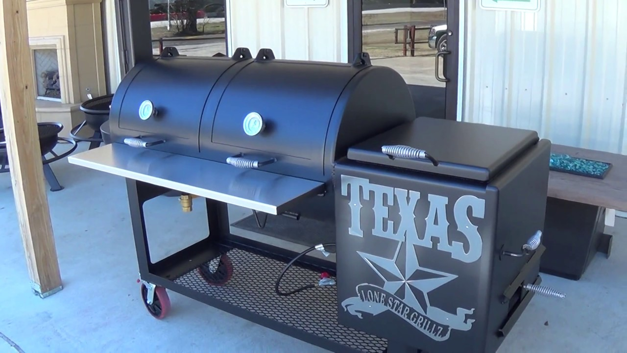 24 x 48 inch Offset Pipe Smoker by Lone Star Grillz