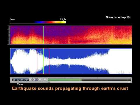 Underwater Microphone Captures Japan Earthquake