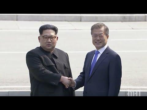 Moon Jae-in and Kim Jong Un meet for historic summit of the Koreas