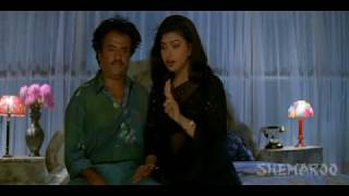 Roja romancing with Rajnikanth - Veera Telugu Movie Scenes - Rajnikanth, Meena, Roja