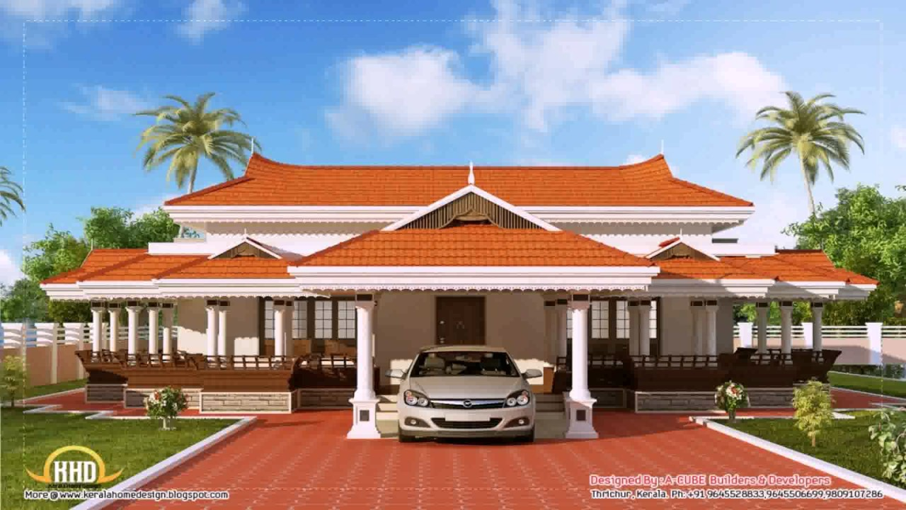 New model house design in kerala youtube for Latest model home design