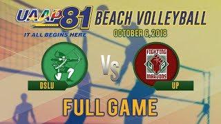 UAAP 81: UP vs. DLSU | Women's Beach Volleyball Tournament | October 6, 2018