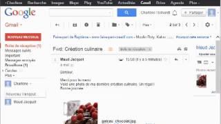 Ouvrir une pièce jointe avec Gmail (avec son)