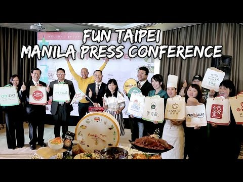 WHAT A PHILIPPINE PRESS CONFERENCE IS LIKE! #FunTaipei | Vlog #189