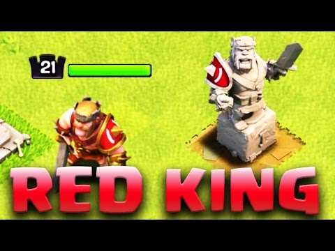 NEW RED Barbarian King | SUPPORT Product RED | Clash of Clans