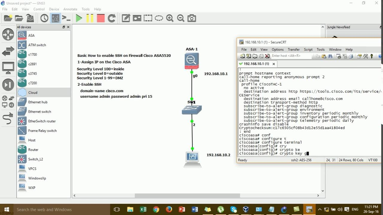 Basic How to Enable SSH on Firewall Cisco ASA 5520 Step by Step