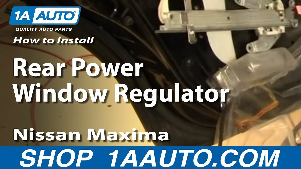How To Install Replace Rear Power Window Regulator 2000 03
