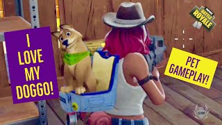 FORTNITE PET DOG GAMEPLAY! dans Fortnite Saison 6 passe de bataille! Fortnite Battle Royale!