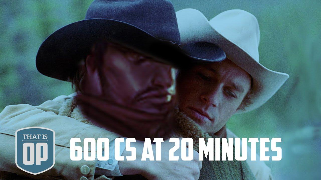 LẬP KỶ LỤC THẾ GIỚI : 600 chỉ số lính ở phút thứ 20!