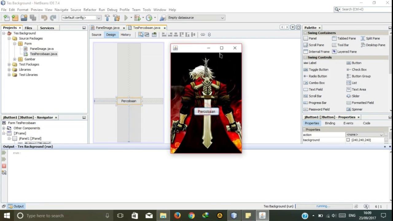 Tutorial 3 - Membuat Background Image di JPanel Java Netbeans
