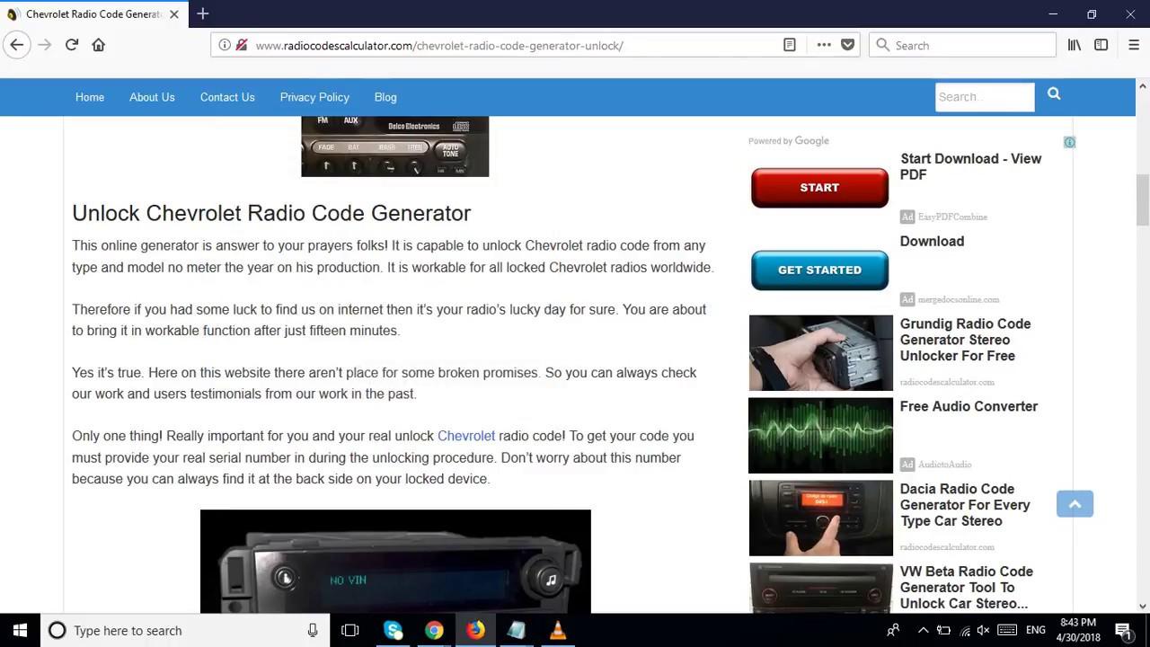 Chevrolet Radio Code Generator Unlock Any Car Stereo Modems