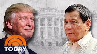 President Trump Invites Controversial Philippines President Duterte To White House | TODAY