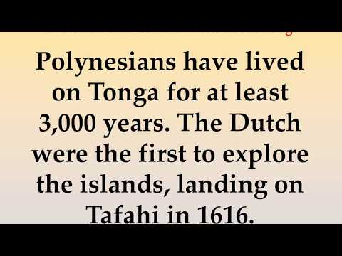 Historical and Cultural Facts about Tonga