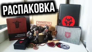 Распаковка Wolfenstein The New Order Panzerhund Collector's Edition Unboxing